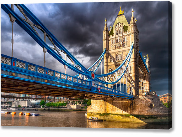Tower Bridge - Dramatic London Canvas Print