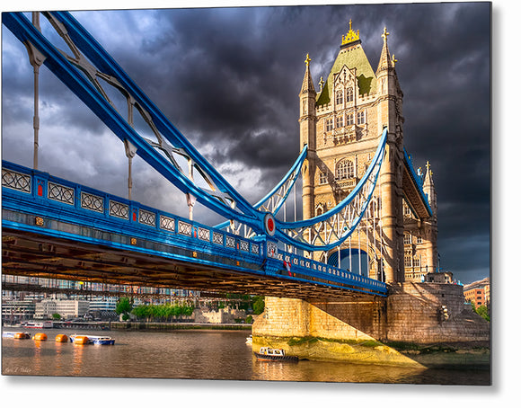 Tower Bridge - Dramatic London Metal Print