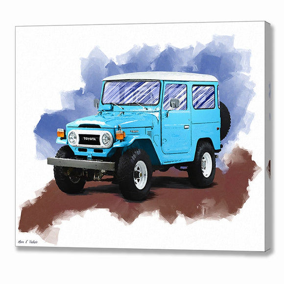 Toyota Land Cruiser FJ40 - Automotive Canvas Print