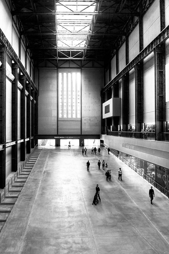 Turbine Hall in the Bankside Power Station - London Art Print