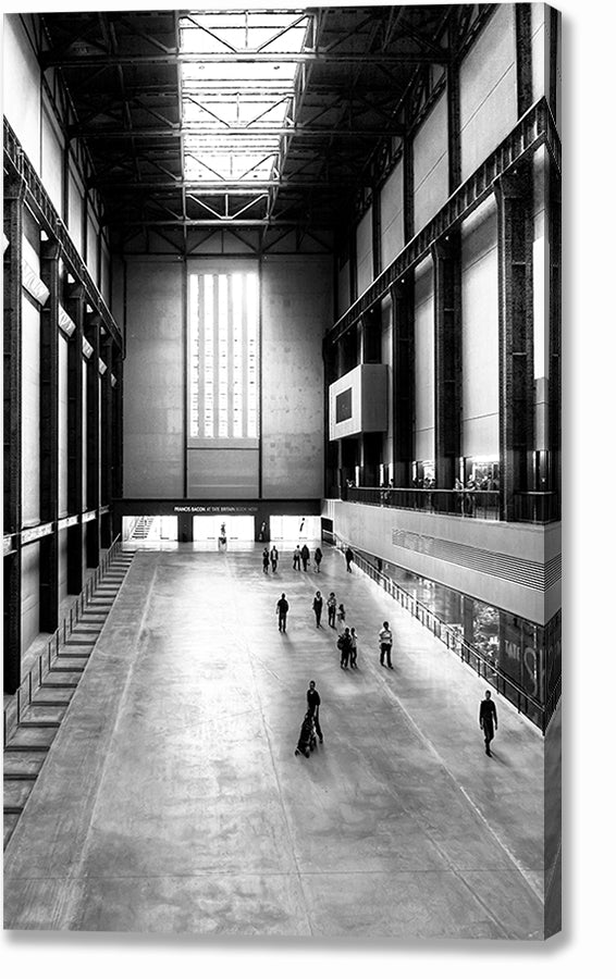 Turbine Hall in the Bankside Power Station - London Canvas Print