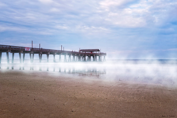 Tybee Beach Pier - Georgia Coast Art Print