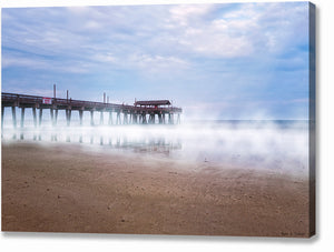 Tybee Beach Pier - Georgia Coast Canvas Print