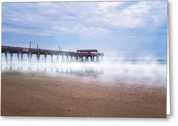 Tybee Beach Pier - Georgia Coast Greeting Card