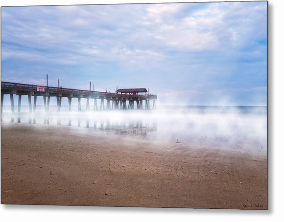 Tybee Beach Pier - Georgia Coast Metal Print