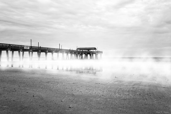 Tybee Island Fishing Pier - Georgia Art Print