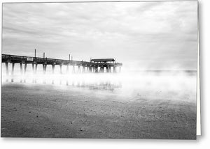 Tybee Island Fishing Pier - Georgia Greeting Card