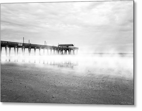 Tybee Island Fishing Pier - Georgia Metal Print
