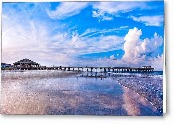 Tybee Island Pier - Georgia Coast Greeting Card