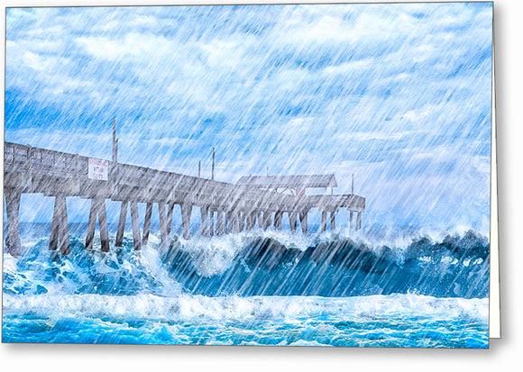Tybee Island Storm - Georgia Coast Greeting Card