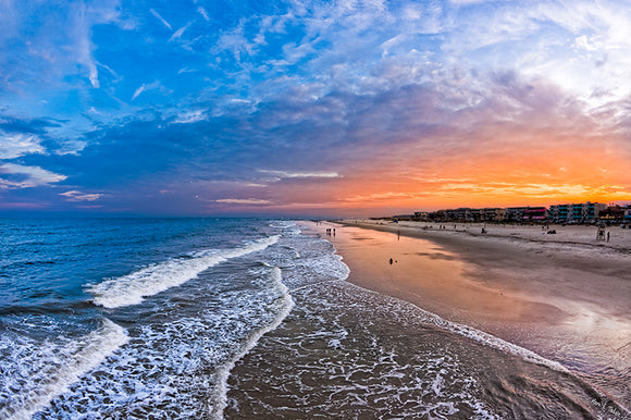 Tybee Island Sunset - Georgia Coast Art Print