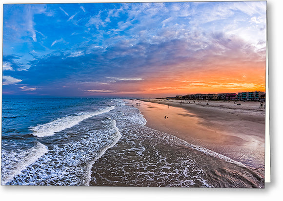 Tybee Island Sunset - Georgia Coast Greeting Card