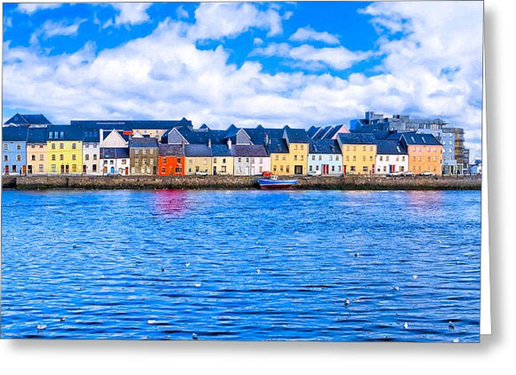 View From Claddagh Quay - Galway Greeting Card