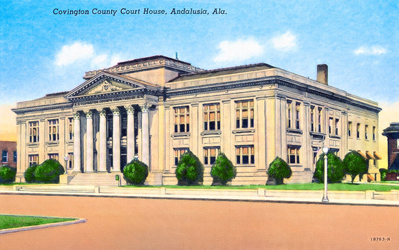 Vintage Andalusia Alabama - Courthouse - Art Print
