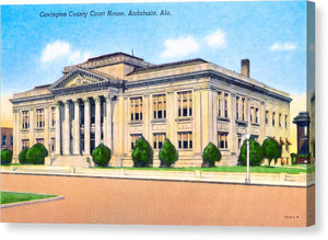 Vintage Andalusia Alabama - Courthouse - Canvas Print