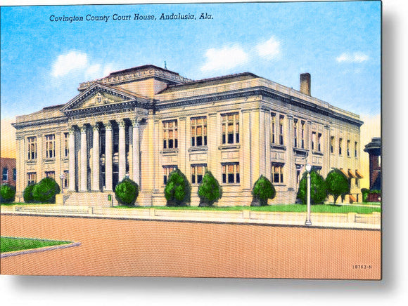 Vintage Andalusia Alabama - Courthouse - Metal Print