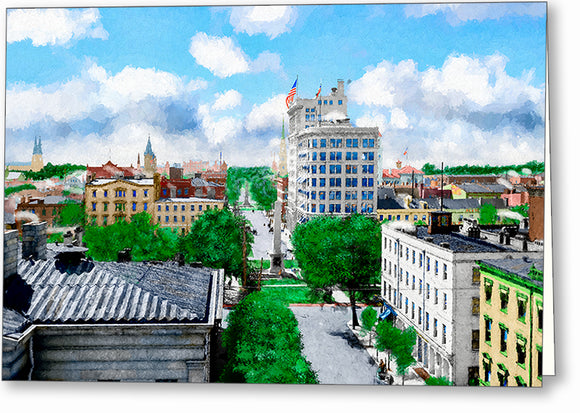 Vintage Savannah Georgia Greeting Card