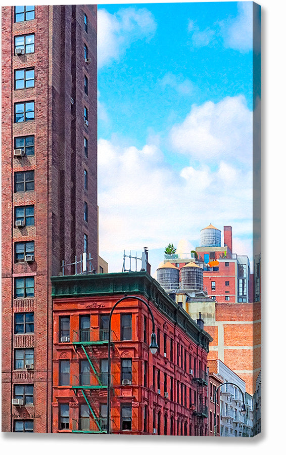 West Village Architecture - New York City Canvas Print