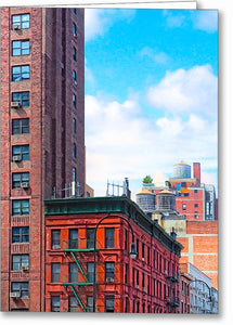 West Village Architecture - New York City Greeting Card