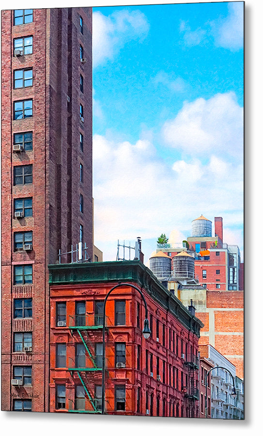 West Village Architecture - New York City Metal Print