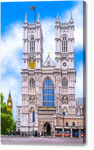 Westminster Abbey West Towers - London Canvas Print