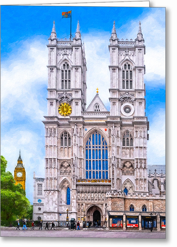 Westminster Abbey West Towers - London Greeting Card