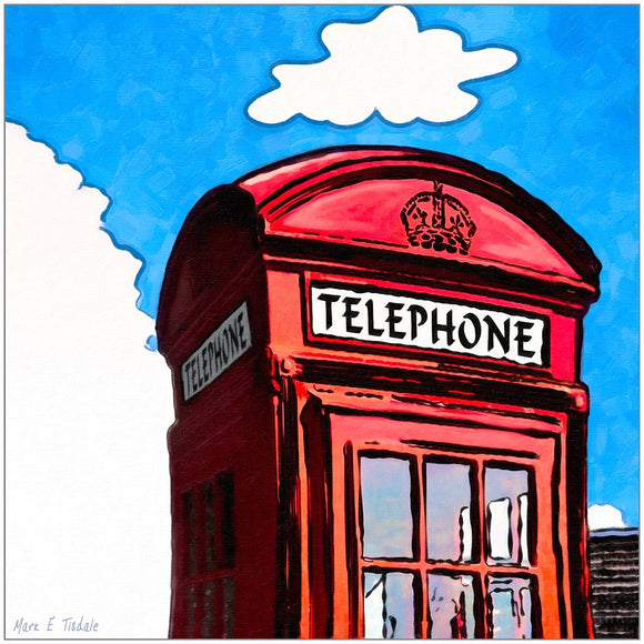 Whimsical Red Phone Box - London Art Print