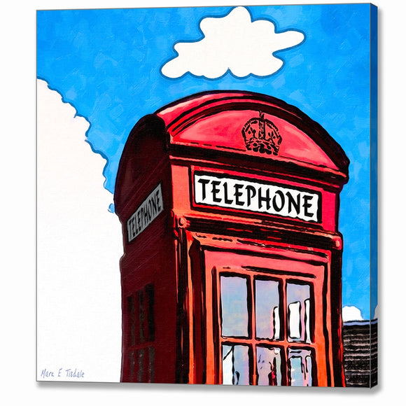 Whimsical Red Phone Box - London Canvas Print