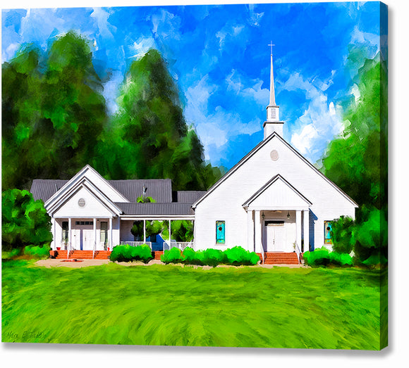 Whitewater Baptist Church - Georgia Canvas Print