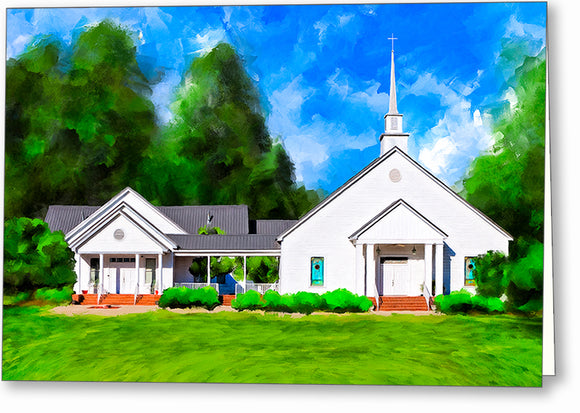 Whitewater Baptist Church - Georgia Greeting Card