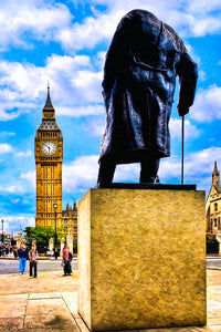 Winston Churchill - London Art Print