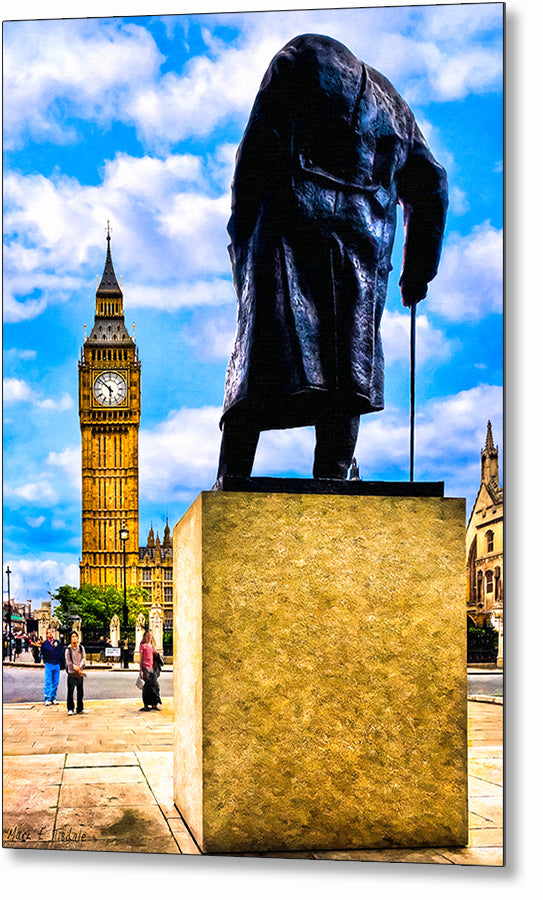 Winston Churchill - London Metal Print