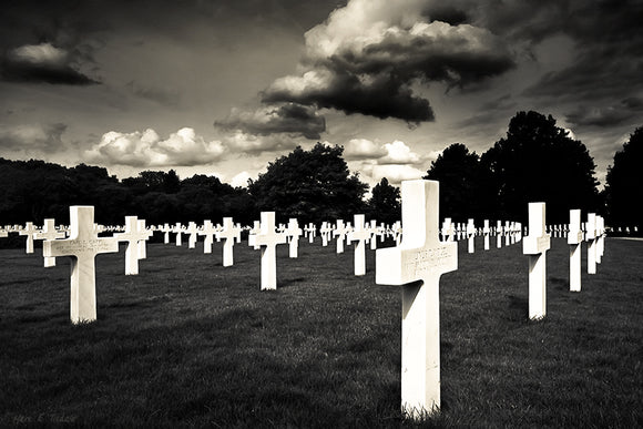 World War II Graveyard - Cambridge American Cemetery Art Print