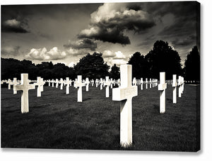 World War II Graveyard - Cambridge American Cemetery Canvas Print
