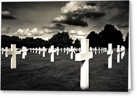 World War II Graveyard - Cambridge American Cemetery Greeting Card