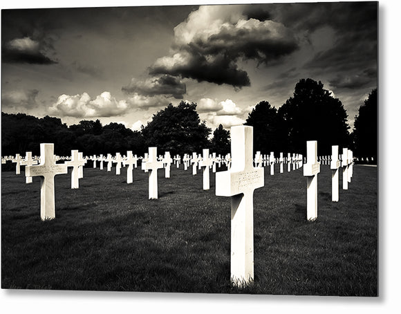 World War II Graveyard - Cambridge American Cemetery Metal Print