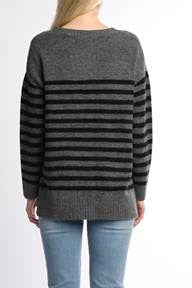 Grey and Black Striped Sweater