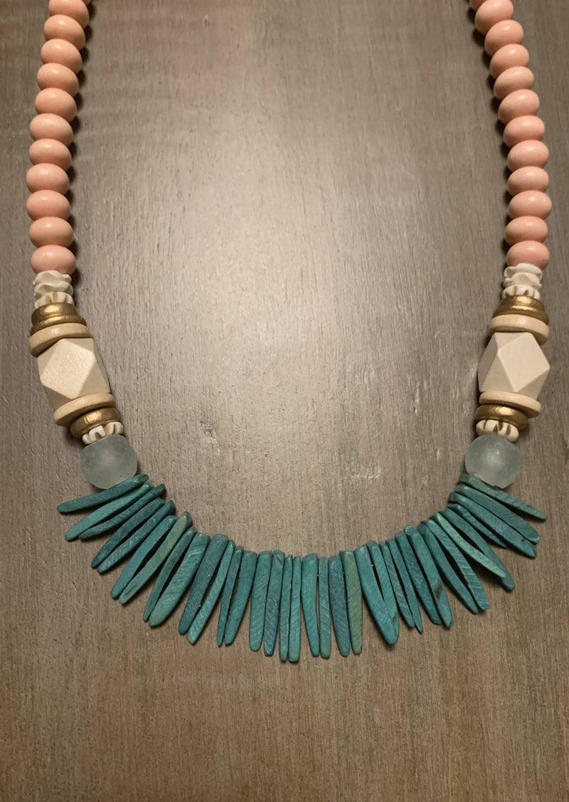Megs Green Spiked Necklace