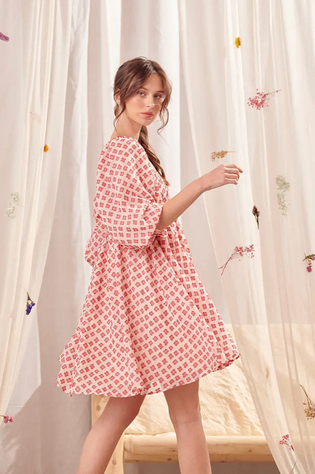 Margot Floral Embroidered Dress
