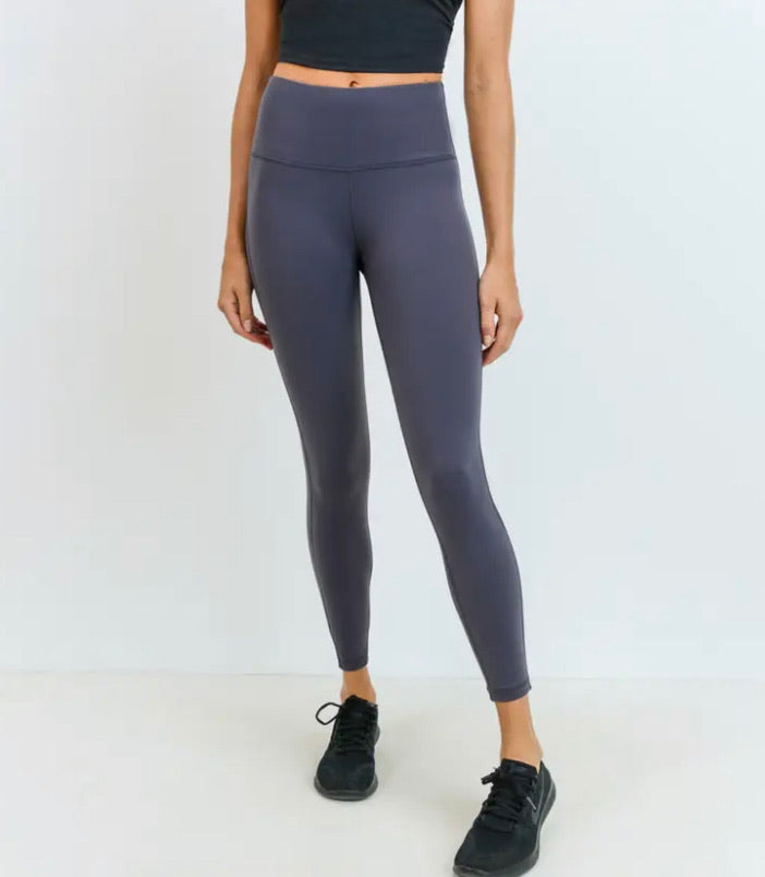 Micaela Highwaist Essential Leggings (Grey)