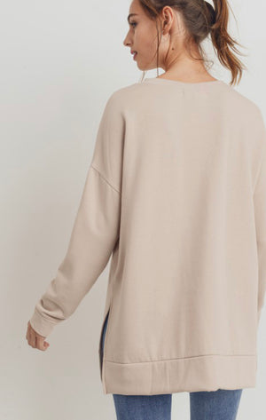 Farren French Terry Pullover (Taupe)
