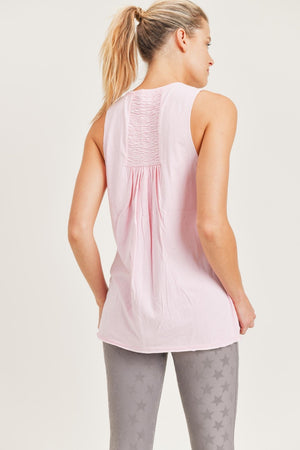 Oakleigh Shirred Back Tank (Ballet)