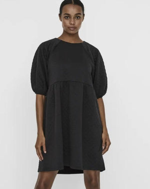 Chloe Quilted Dress (Black)