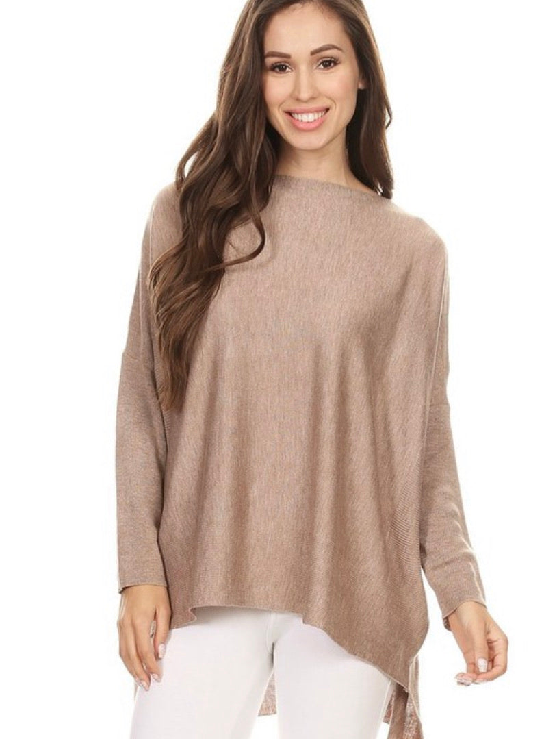 Hensley Lightweight Swing Sweater (Taupe)