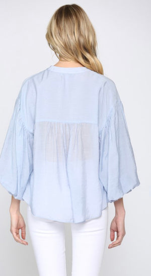 Faye Puff Sleeve Button Down Shirt