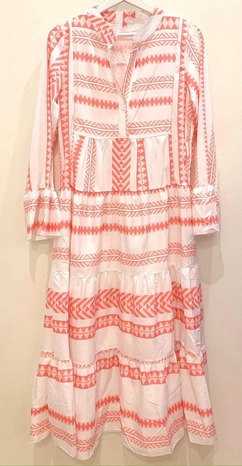 Maali Aztec Midi Dress