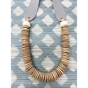 Alice Grey Leather Necklace