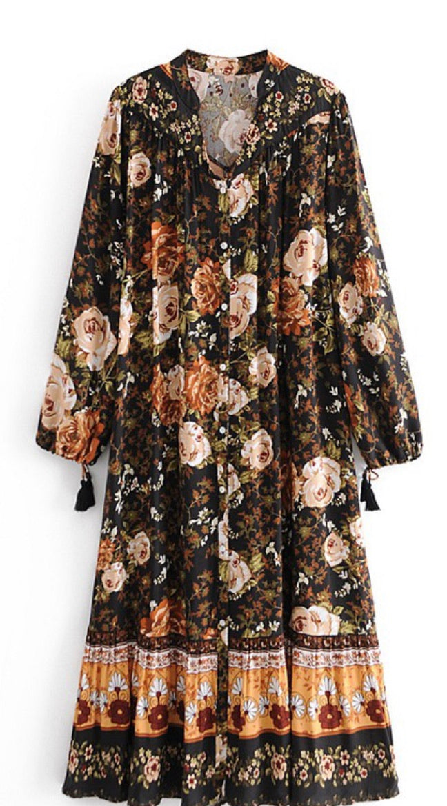 Ina Bohemian Floral Dress