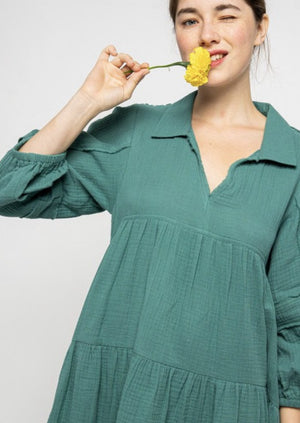Bradford Shirt Dress (Teal Green)