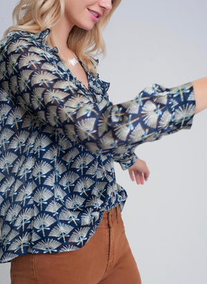 Maisie Blue Print Top
